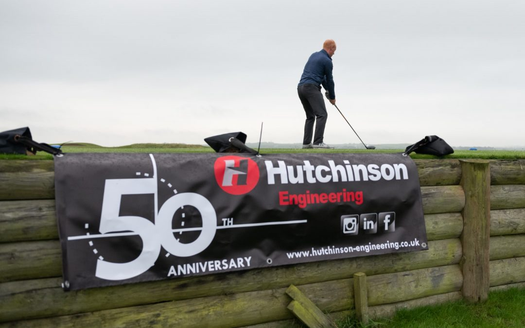 Hutchinson Engineering celebrates 50 years in business with corporate golf day at Portstewart GC.